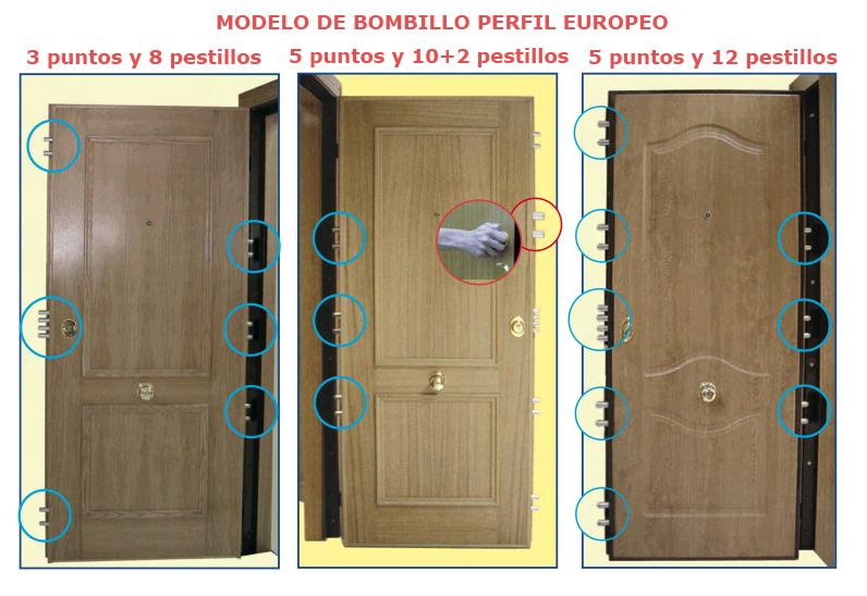 CARPINTERIA Y DECORACION H. ORTIZ :: Puerta Acorazada modelos 5000